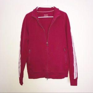 Banana republic deep red & white track jacket Lrg